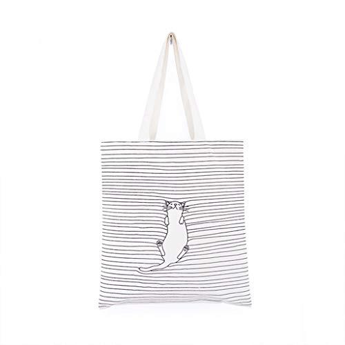 eletyuty Handbags Women's Canvas Casual Shopping Handbag Shoulder Messenger Bag Satchel Tote Purse Bags