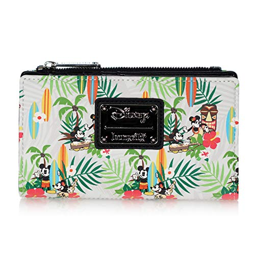 Loungefly x Disney Tropical Mickey/Minnie Mouse AOP Wallet