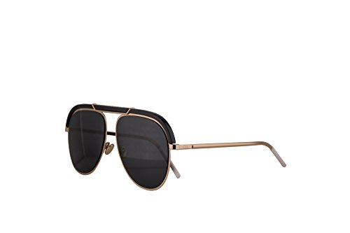 Christian Dior DiorDesertic Sunglasses Black Gold w/Grey Lens 58mm 2M22K Dior Desertic