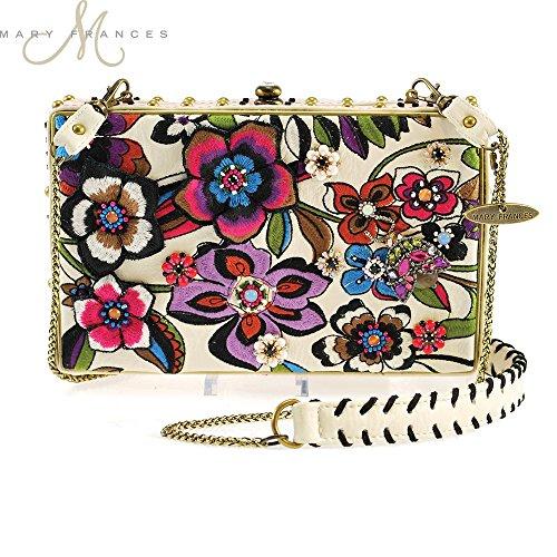 Mary Frances Blossoms White Handbag
