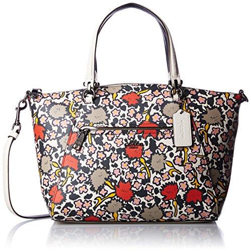 COACH Women's Floral Printed Prairie Satchel DK/Chalk Yankee Floral Handbag