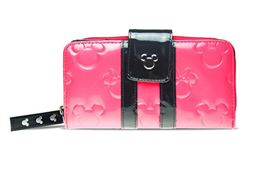 Disney Parks Bubble Gum Pink Loungefly Wallet Minnie Loves Mickey Mouse Clutch