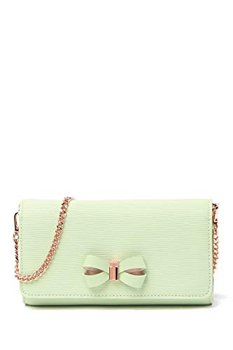 Ted Baker Melisia Bow Matinee Wallet on a Chain (Olive)