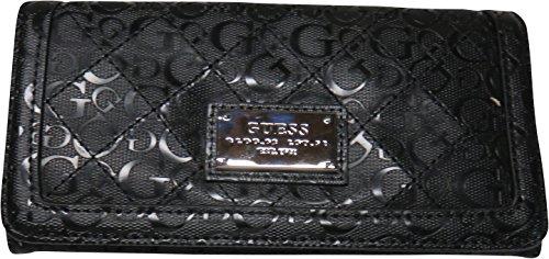 Guess Women's Wallet Burbank Signature Logo Black