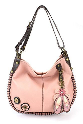 CHALA Crossbody Handbag, Hobo Style, Casual, Soft, Large Bag Shoulder or Crossbody – Pink (Ballerina)