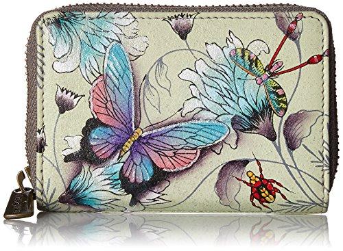 Anuschka Women's Genuine Leather Credit & Business Card Holder | Hand Painted Original Artwork | Wondrous Wings