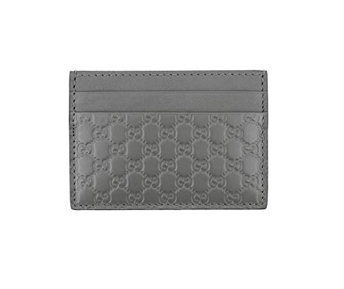 Gucci Microguccissima Signature Leather Card Case Wallet, Dark-grey