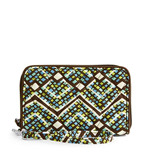 Vera Bradley Women's Signature Cotton RFID Grab & Go, Rain Forest, One Size