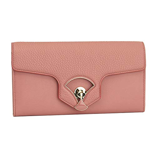Bvlgari Diva Pink Leather Bi-fold Long Wallet 285501