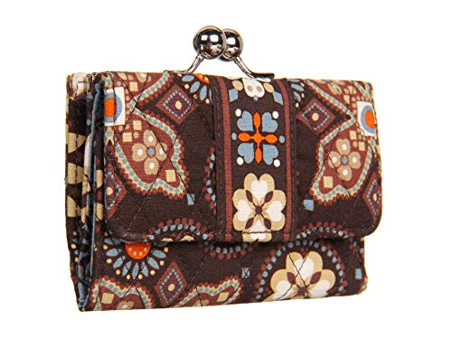 Vera Bradley Small Kisslock Wallet in Canyon