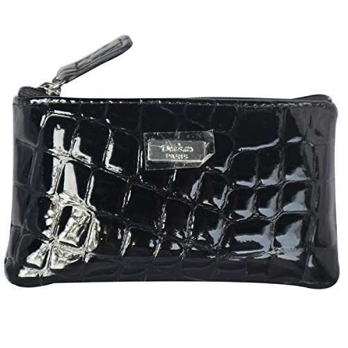 Daimanbo Elegant Personalized Classic Crocodile Grain Bright Black Clutch Bag Wallet