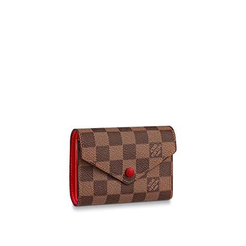 Louis Vuitton Damier Ebene Canvas Victorine Wallet N41659 Red