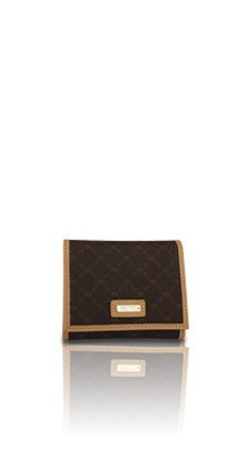 Signature Brown Tri-Fold Wallet by Rioni Designer Handbags & Luggage