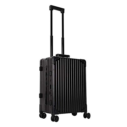DXDYU Professional Rolling Makeup Trolley Case, Aluminum Cosmetic Organizer Makeup Case for Beauty (Color : Black)