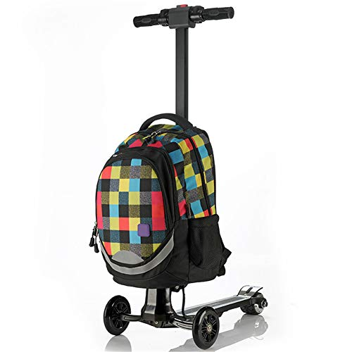 Electric Scooter Business 18 inch Trolley Luggage Scooter Electric Aircraft Wheel Boarding Bag Student Bag Oxford Cloth Suitcase Student Box for Men and Women,D