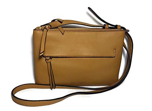 VINCE CAMUTO Gally Creamy Caramel Pebble Leather Crossbody Handbag