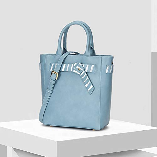 Nuanxingjiafang Handbag-Fashionable Simple Tote, Ladies Shoulder Bag Crossbody Bag, Large Capacity Leather Bag, Blue, 28.5 12 27cm Fashion