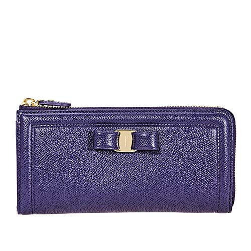Salvatore Ferragamo Zip Around Wallet- Navy