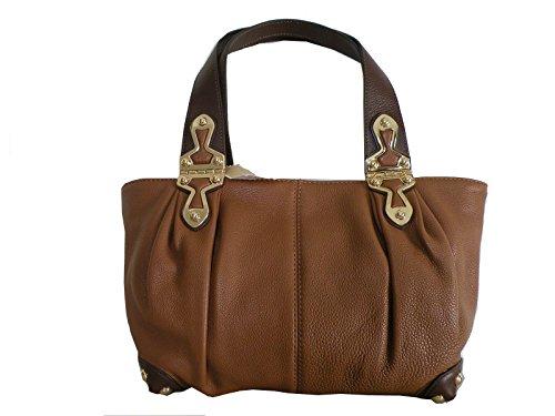 Michael Kors Joplin Luggage Brown Leather Medium Shoulder Satchel