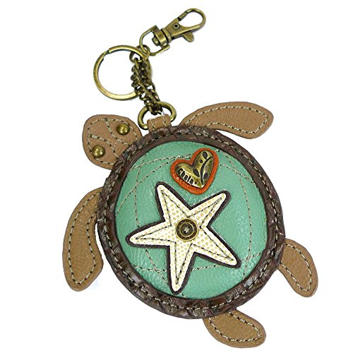 Chala Sea Turtle Key Fob/Coin Purse, Turtle Lovers Gift
