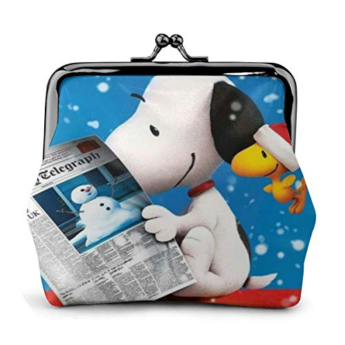 Coin Purse Cartoon Snoopy Woodstock Coin Purse Wallet Purses Credit Cards Pouch Kiss Lock Exquisite Buckle Make Up Cellphone Women Leather Cash Coin Purses Wallets