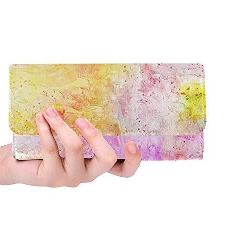 Unique Custom Art Abstract Watercolor Vintage 3605823 Women Trifold Wallet Long Purse Credit Card Holder Case Handbag
