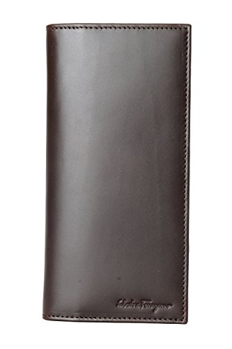 Salvatore Ferragamo Men's Deep Brown 100% Leather Large Bifold Wallet