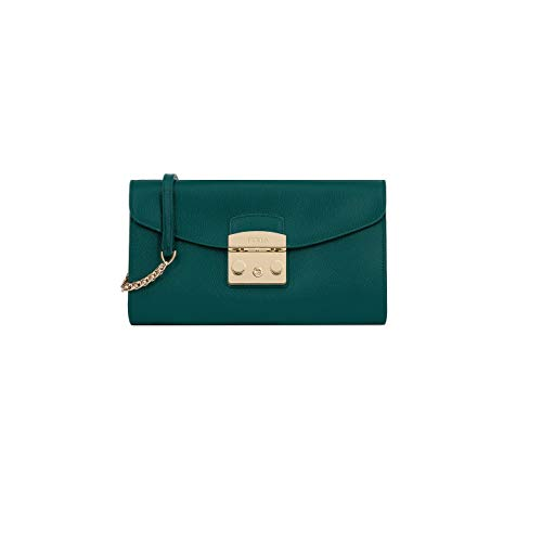 Furla Metropolis Ladies Small Green Cipresso Leather Pochette 978073