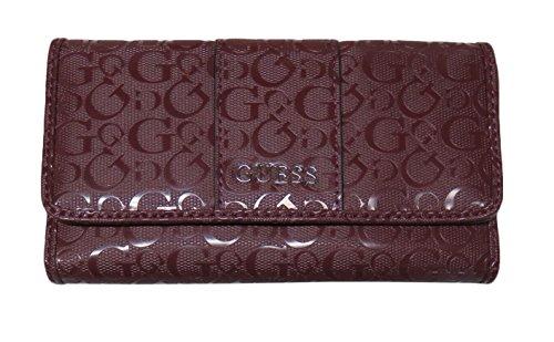 Guess Women's Flap Clutch Wallet Ware Bordeaux
