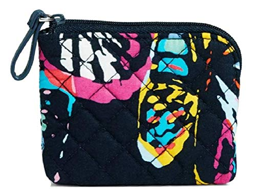 Vera Bradley Iconic Coin Purse in Butterfly Flutter, Signature Cotton