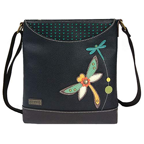 Chala Handbags Dragonfly Sweet Messenger Bag Purse, Dragonfly lover Collector