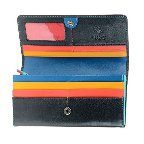 Visconti CHL72 Women's Secure RFID Blocking Leather Trifold Clutch Wallet Purse