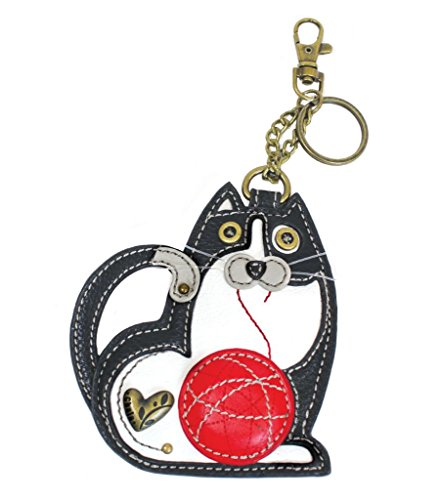 Chala Fat Cat Key Fob Coin Purse, Cat Lover Gift Cat Mom, Dad