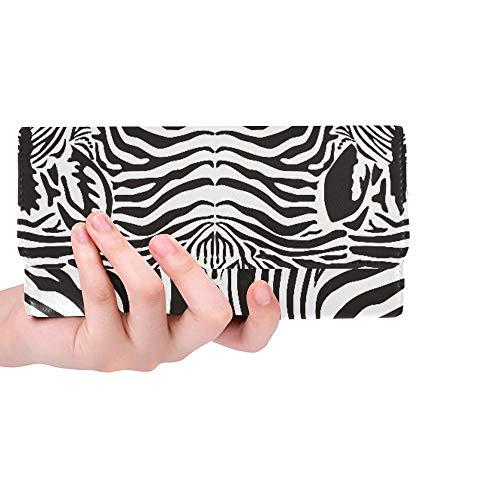 Unique Custom Illustration Pattern Background Zebras Skins And H Women Trifold Wallet Long Purse Credit Card Holder Case Handbag