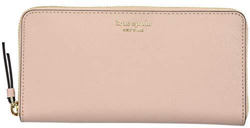 Kate Spade New York Laurel Way Neda Saffiano Leather Zip Around Wallet (Black) (Warmvellum), Medium