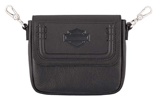 Harley-Davidson Women's Trapunto Leather Hip Bag w/Strap – Black HDWBA11644