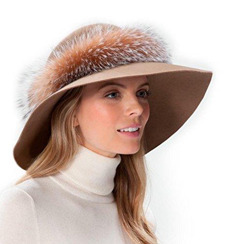 Eric Javits Luxury Fashion Designer Women's Headwear Hat – Samantha – Taupe