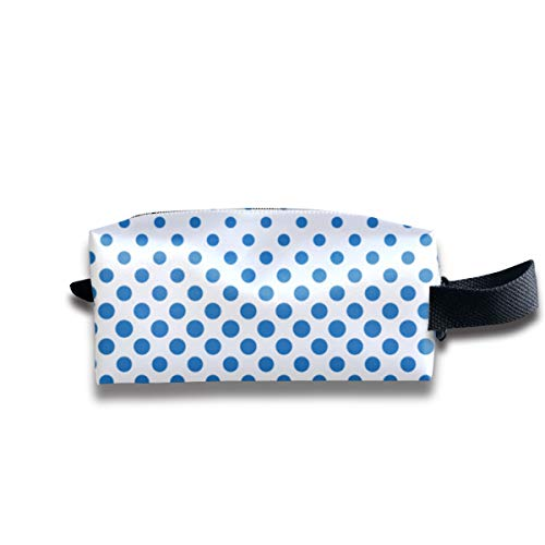 Halftone Dotted Canvas Makeup Bag Pouch Purse Handbag Organizer with Zipper