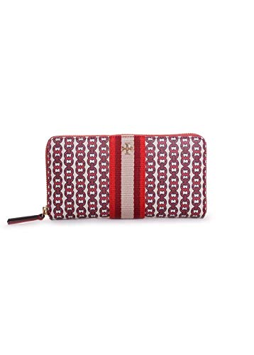 Tory Burch Gemini Link Canvas Wallet in Liberty Red