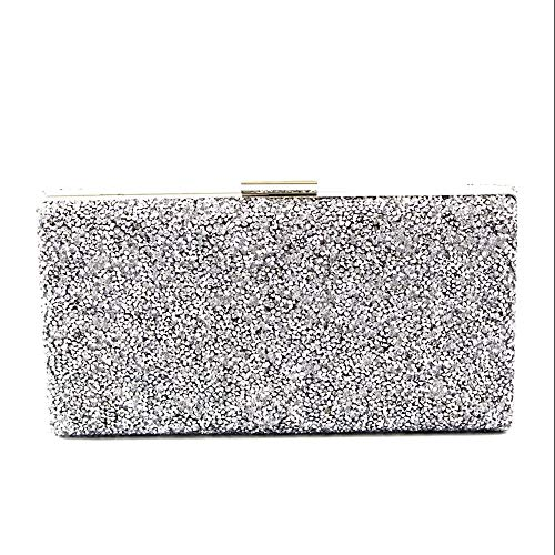 NSHUN Women's Shiny Rhinestone Sparkling Clutch Purse Elegant Glitter Evening Bags Bling Evening Handbag for Dance Wedding Party Prom Bride
