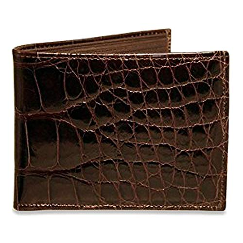 Jack Georges American Alligator Classic Bifold Wallet Black