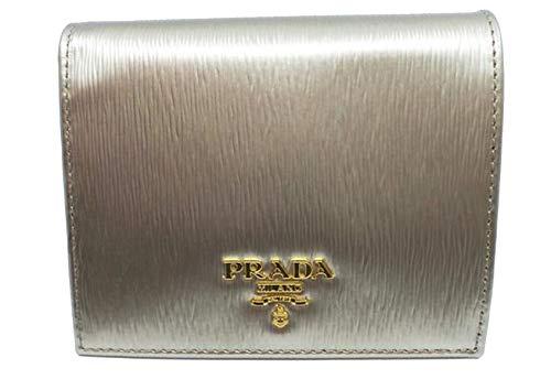 Prada Portafoglio Verticale Pirite Gold Vitello Move Leather Flap Wallet 1MV204