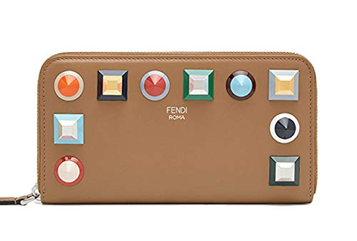 Fendi Rainbow Collection Full Zip Women's Wallet Tan 8M0299