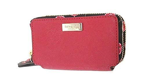 KATE SPADE LAUREL WAY ROSIE DOUBLE ZIP AROUND MINI WALLET CARD CASE WLRU5056 ROOSTER RED
