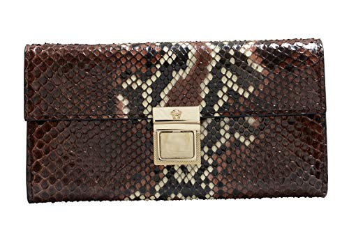 Versace Multi-Color Python Skin Leather Women's Wallet Clutch