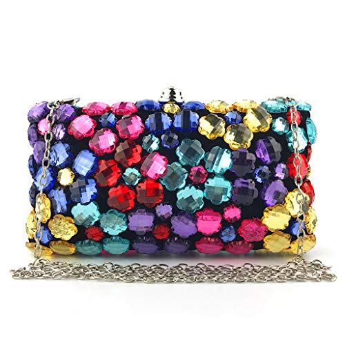 Evening Bag Party Bridal Clutch Handbag Wedding Prom Wallet Purse with Colorful