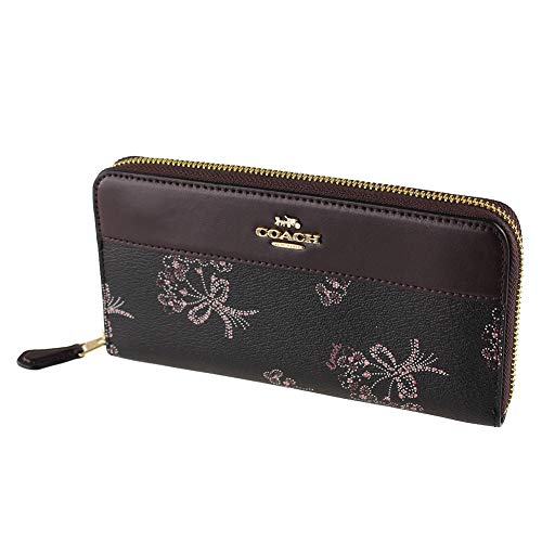 Coach Accordian Leather Zip Wallet Clutch in Ribbon Bouquet – #F76870