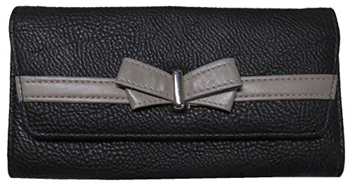 Jessica Simpson Women's Linea Wallet, Black/Fog