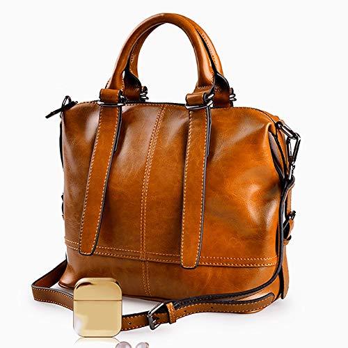 Nuanxingjiafang Handbag-Fashionable Simple Tote, Ladies Shoulder Bag Crossbody Bag, Large Capacity Leather Bag, 29 13 25cm Fashion