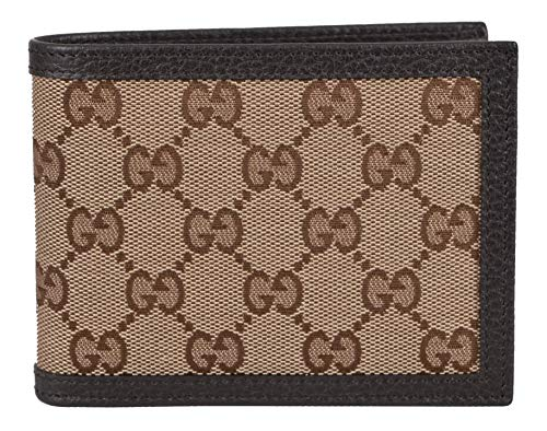 Gucci Men's Canvas GG Guccissima Trifold Passcase ID Wallet (Beige/Brown)